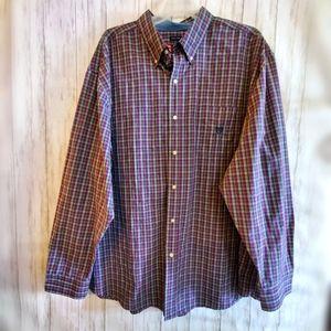 Men's 4xb Chaps easy care plaid button down shirt